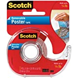 Scotch Removable Poster Tape, 3/4-inch x 150-inches, Clear, 1 Roll/Pack (109)