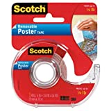 Scotch Removable Poster Tape, 3/4-inch x 150-inches, Clear, 1 Roll/Pack (109) фото