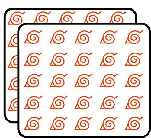 Naruto Konoha Leaf Symbol Sticker for Scrapbooking, Calendars, Arts, Kids DIY Crafts, Album, Bullet Journals 50 -