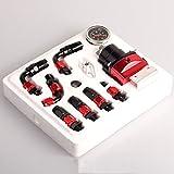 Adjustable Fuel Pressure Regulator Gauge Kit Fittings Oil Line AN6 BLACK +RED