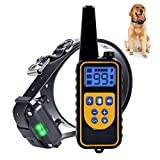 Shock Collar for Dogs Rainproof and Rechargeable Dog Training Collar Beep 1-99 Levels Vibration and Shock Collar for Large Dogs and Small Dogs 1500ft Dog Shock Collar with Remote Tracking Light