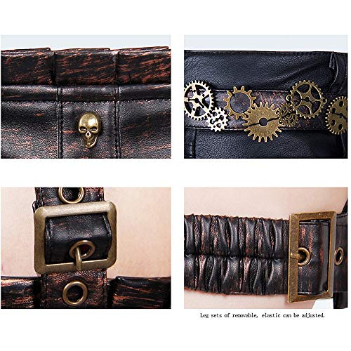 Petits Grand Steampunk À Moyen Sac Sac Rock Taille Cosplay Sac Dame Petite Jambe Sunbobo Taille De École Dos Style Convient Messenger Sacs Costumes Fille Femmes Pxwqw8BS
