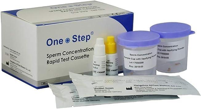 One Step 2 Test fertilidad masculina para detectar infertilidad azoospermia astenozoospermia oligospermia esterilidad