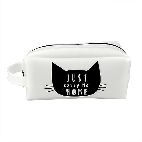 Unicoco - Estuche para lápices con diseño de gatos, de fieltro, de gel de sílice, 4 diseños diferentes, para papelería o suministros escolares, muy ...