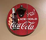 "SOTT YES Ice Cold Coca-Cola 8"" Diameter Wood and"