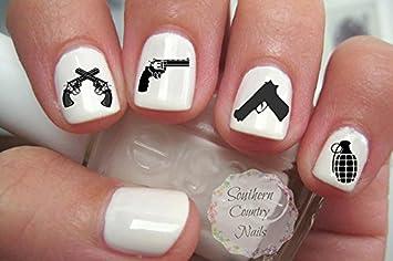 Amazon 30 hand gun weapons grenades nail art decals beauty 30 hand gun weapons grenades nail art decals prinsesfo Images