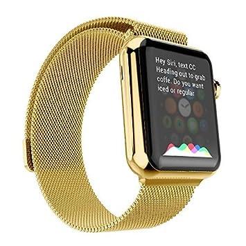 Apple reloj correa, con único imán cerradura Lamavido 42 mm Milanese Loop pulsera de acero inoxidable correa banda para Iwatch banda 42 mm todos los ...
