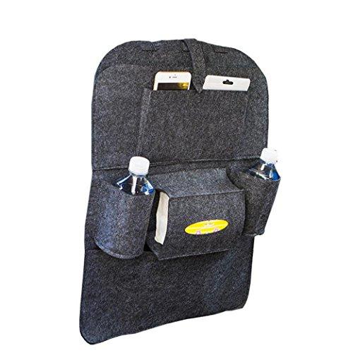 Start Car Auto Seat Back Storage Bag Multi-Pocket Organizer Holder hanger Bags (Dark Gray)