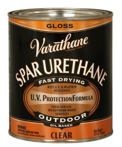 Rust-Oleum Varathane 242180H 1-Quart Classic Clear Oil Based Outdoor Spar 275 Voc Urethane, Gloss Finish by Rust-Oleum ()