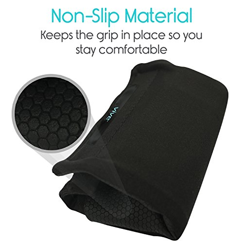 Vive Walker Padded Hand Grip Covers- Soft Cushion Padding Medical Accessories for Folding Rolling Walker, Rollator Handle, Senior, Elderly Grippers - Crutch Handle Pads - Mobility Aid Hand Cushion by Vive (Image #4)