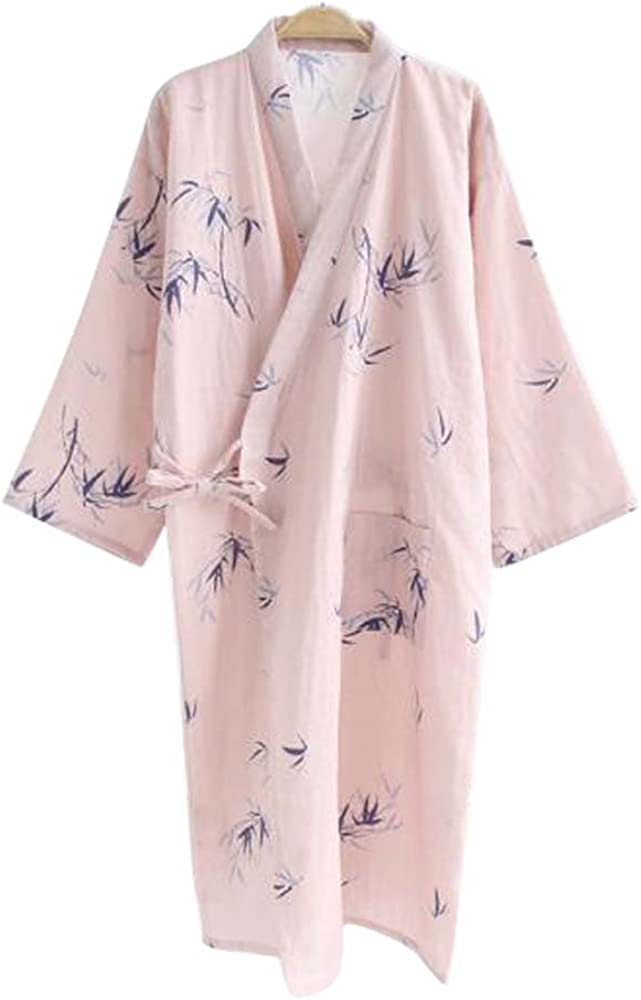 Ropa de dormir de albornoz de manga larga de algodón Kimono para mujer con estampado de peluche - A1: Amazon.es: Ropa y accesorios