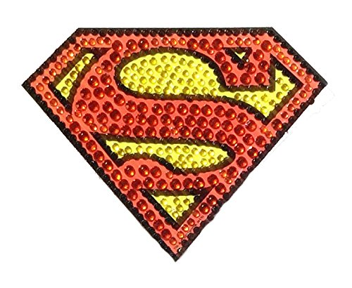 DC Comics Superman Small Car Window Decal Sticker (Bling Logo Crystal Studded Superman)]()