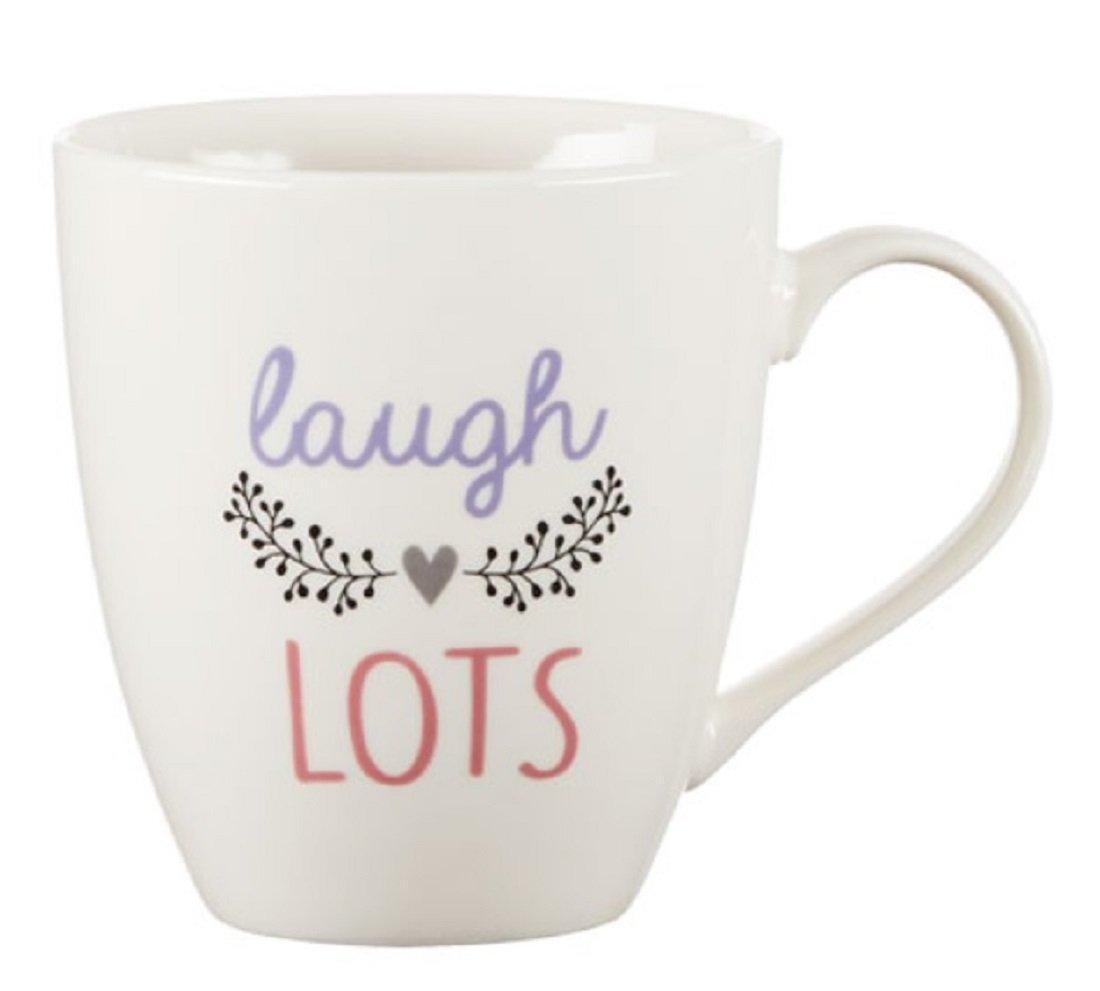 Pfaltzgraff Everyday Inspirational Laugh Lots Large Coffee Mug - 18 Oz