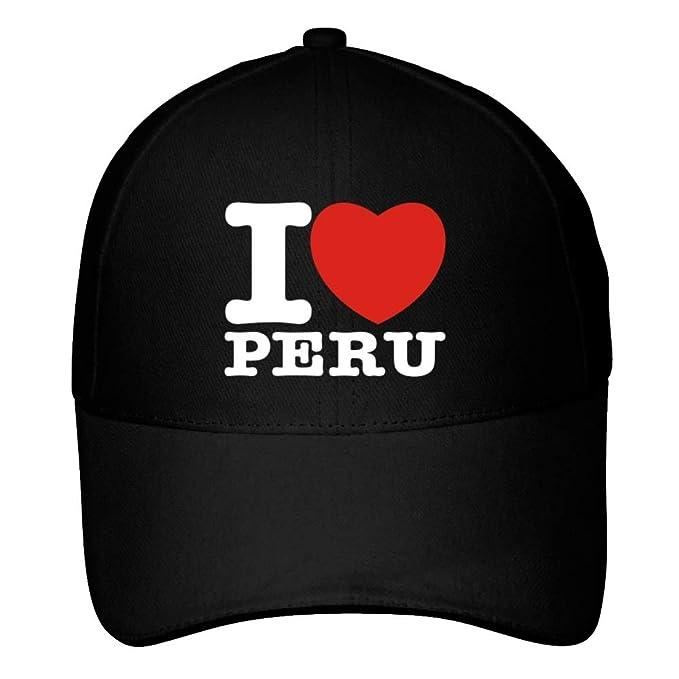 Idakoos I Love Peru Bold Font - Paises - Gorra De Beisbol  Amazon ... 61a9a95bd84