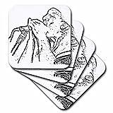 Musica Best Deals - Susans Zoo Crew reproductor de música-Armónica con contorno-Posavasos de carga, Suave, set de 4, 1 uds. por paquete