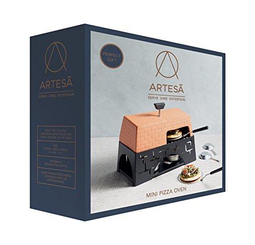 Artesa Terracotta Mini Horno de Mesa para Pizza, Multicolor
