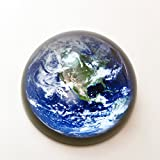 #5: Waltz&F Crystal Blue Earth Paperweight Galss Globe Hemisphere Home Office Table Decoration