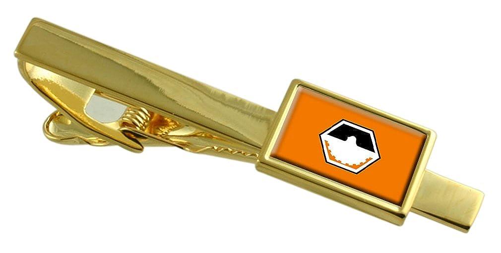 Select Gifts Divinopolis City Minas Gerais State Flag Gold-Tone Tie Clip