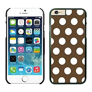 FAGUO Crazy Personalized Polka Dot Dark Brown and White iPhone 6 Plus Case Black by lolosakes