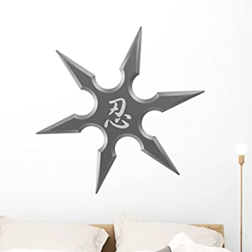 Wallmonkeys Ninja Star Shuriken Wall Decal Peel and Stick Decals for Boys (36 in H x 36 in W) WM55827