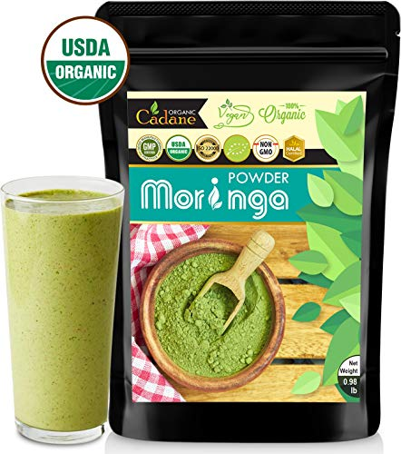 USDA Organic Moringa Powder - from India 16oz | Miracle Oleifera Plant Based Protein Powder Contains Vegan Calcium, Multivitamin, Omega & Core Nutrition | Antioxidant, Brain Booster, Energy Drink (Indian Hot And Sour Soup Recipe Vegetarian)