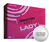 Bridgestone Lady Precept Personalized Golf Balls - Add Your Own Text (12 Dozen) - Pink