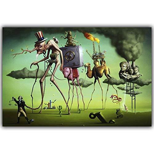 - SAVA 60980 Salvador Dali Surrealism Abstract Painting Decor Wall 36x24 Poster Print