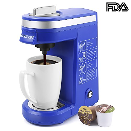 CHULUX Coffee Maker Machine for K-Cup,Single Cup Pod Coffee Brewer with Quick Brew Technology,Blue