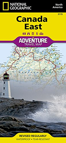 Canada Map - Canada East (National Geographic Adventure Map)