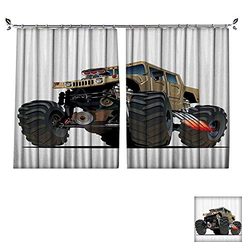 - DESPKON Environmental Protection Material Polyester Extremely Large Giant Mster Pickup Truck with Huge with Oversized Tires Racing for Living Room Window,Sun Insulation. W84 x L108