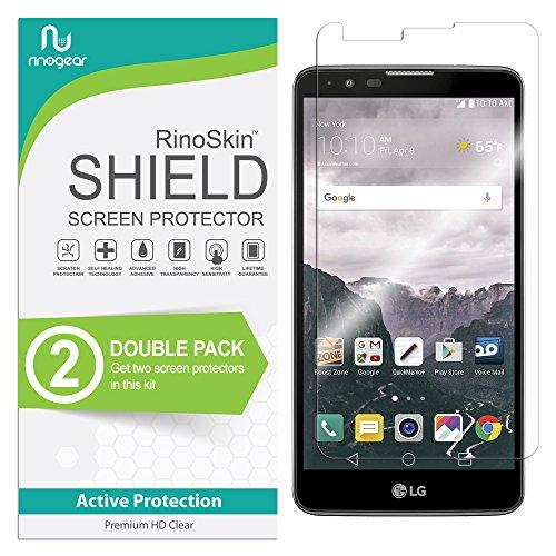 LG Stylo 2 / Stylo 2 V/Stylo 2 Plus/Stylus 2 Screen Protector [2-Pack] RinoGear Case Friendly Screen Protector for LG Stylo 2 / Stylo 2 V/Stylo 2 Plus/Stylus 2 Accessory Clear Film