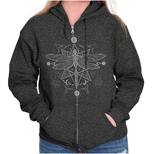 - Spirit Dragonfly Symbolic Spirit Animal Zip Hoodie Dark Heather