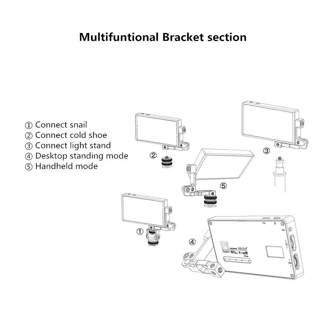Mivitar Boling P1 RGB Led Video Light 2500k-8500k Mini Pocket Size On Camera Light with 9 Applicable Situation, 360° Adjustable Support System with Built in Battery by Mivitar (Image #8)