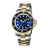 Reloj de buceo Neymar 40mm 1000m Swiss 2824 Automatic (Golden, Blue Surface)