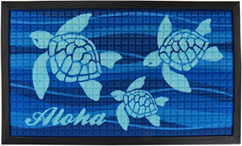 KC Hawaii Aloha Honu Tropical Door Mat 30 X 17.75 inches