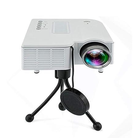 ZM Proyector HD con Soporte 1080P, Mini proyector portátil ...