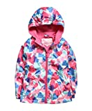 #7: Hiheart Girls Hooded Fleece Lined Active Jacket Outdoor Waterproof Coat Pink