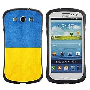 Pulsar iFace Series Tpu silicona Carcasa Funda Case para SAMSUNG Galaxy S3 III / i9300 / i747 , Ukraine Flag