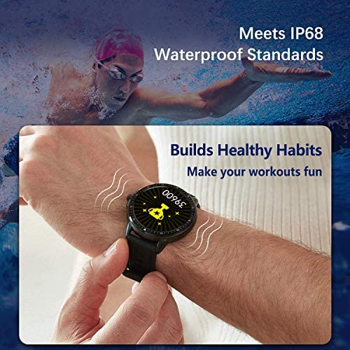MorePro Smart Watch 20 Sport Modes Fitness Tracker Health Watch Body Temperature, Activity Tracker with Heart Rate Blood Pressure Sleep Monitor, IP68 Waterproof Smartwatch for Women Men 7