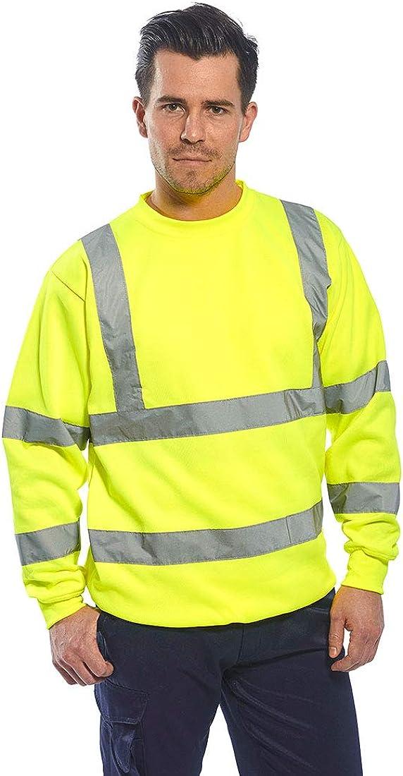 Sweat haute visibilit/é Flash jaune fluo