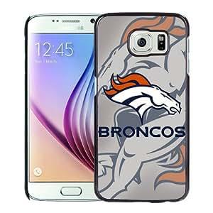 High Quality Samsung Galaxy S6 Skin Case ,Denver Broncos 4 Black Samsung Galaxy S6 Screen Cover Case Popular And Unique Custom Designed Phone Case