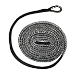 "Extreme Max 5600.3212 ""The Devil's Hair"" Synthetic ATV / UTV Plow Lift Rope, Gray"
