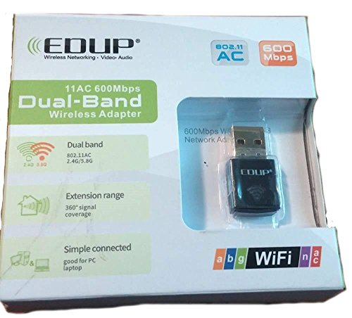 J-NET AC600 Dual Band(5GHz and 2.4GHz) wireless USB wifi adapter,For Device of Windows XP / Vista / 7 / 8 / 8.1 / 10 / MAC OS X 10