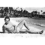 Delightful Magnum P.I. Poster, On The Beach, Tom Selleck, Private Investigator, 1980u0027s