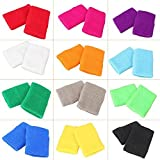 Best Band Wrists - GZYF 12 Pairs Colorful Wrist Sweatbands Athletic Cotton Review