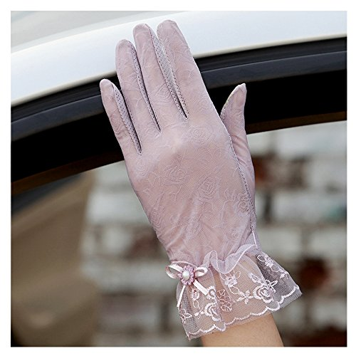 Summer Gloves, Proboths Women's Outdoor Driving Summer Sun Uv Protection Floral Thin Gloves Touch Screen Mittens Purple Floral Golf Gloves