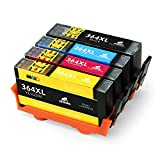 IKONG 364XL Replacement for HP 364 High Yield Ink Cartridges Compatible with HP Deskjet 3070a 3520 3524,Officejet 4620 4622,Photosmart 5510 5520 5524 5514 7510 7520 5515 6510 c309a b110a b109a b109n