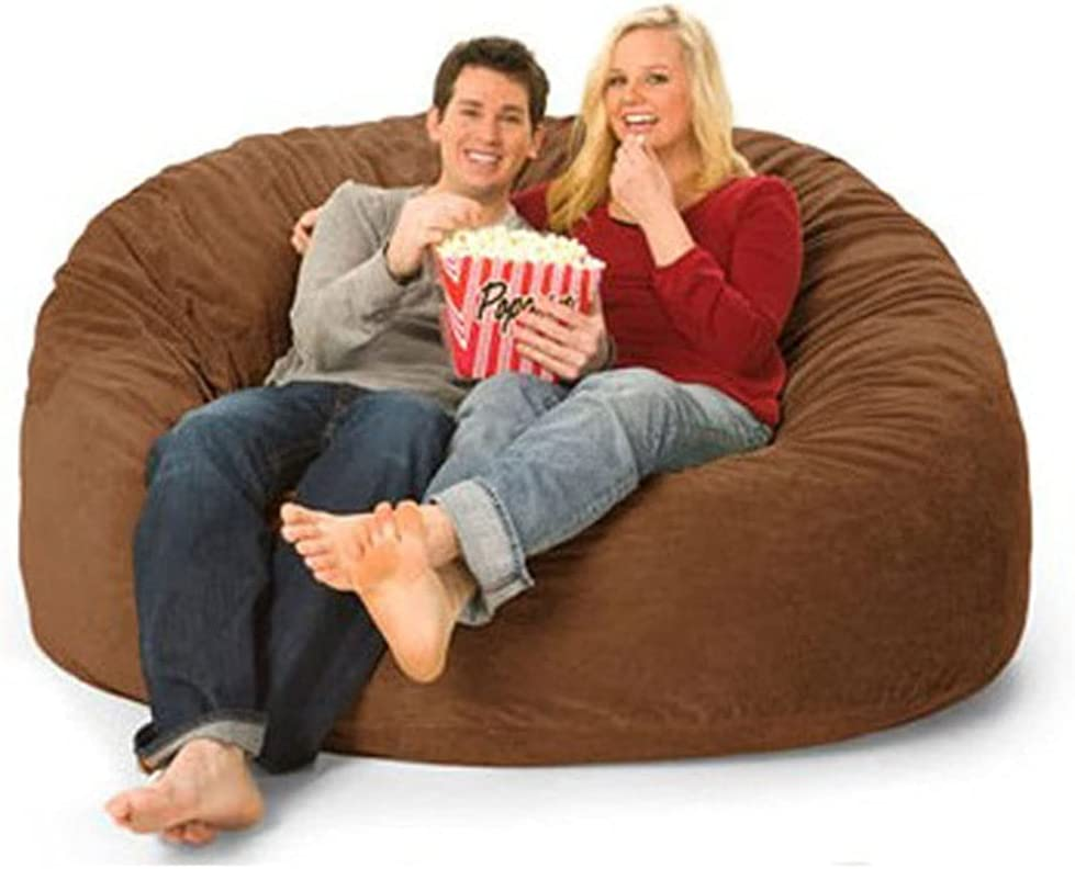 SRQHMXSF 7DM 180X80cm Bean Bag Chair, (No Filler) Removable and Washable Adult Double Super Lazy Sofa Bean Bag Chair Soft Fine Fiber Sofa Covers Leisure Furniture Bean Bag Chair: Giant 7' Memory Foa