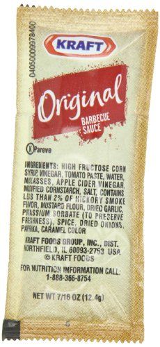 Kraft Original Barbecue Sauce.4375 oz. sachet, Pack of (Kraft Original Bbq Sauce)