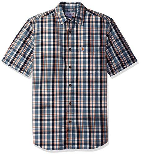 carhartt-mens-essential-plaid-open-collar-short-sleeve-shirt-steel-blue-large